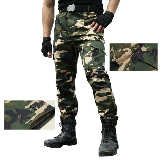 Pants Tactical Trousers Army Men Workwear Airsoft Paintball Camouflage Clothes