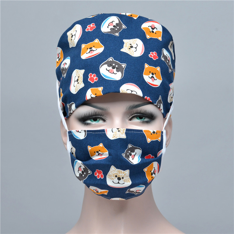 New Cute Animals Print Scrub Caps Clinic Hospital Dental Surgical Laboratory Pharmacy Medical Caps Doctor Hat Surgical Caps Mask