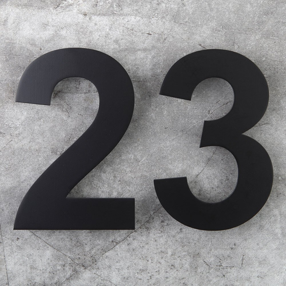 8 Inch Floating House Numbers Door Sign