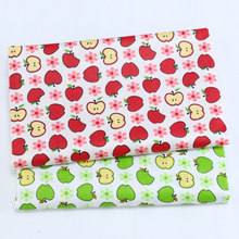 Printed Apple Baby cotton Patchwork Cloth,100% Cotton Twill Fabric,DIY Sewing Quilting Fat Quarters Material For Baby&Child(China)