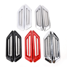 2 Pcs Universal Car Air Intake Flow Vent Fender Decoration Stickers Fashion Car Accessories 17*4cm