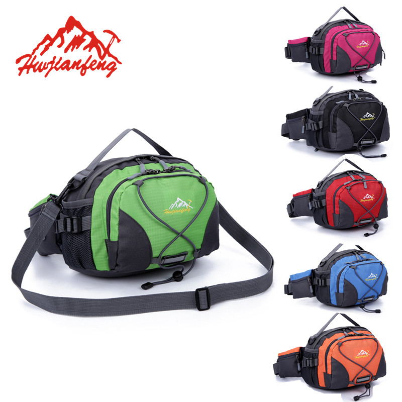 SupWeknd Waterproof Outdoor Functional Running Waist Bag Sport Packs For Music With Headset Hole-Fits Smartphones gym bike bags
