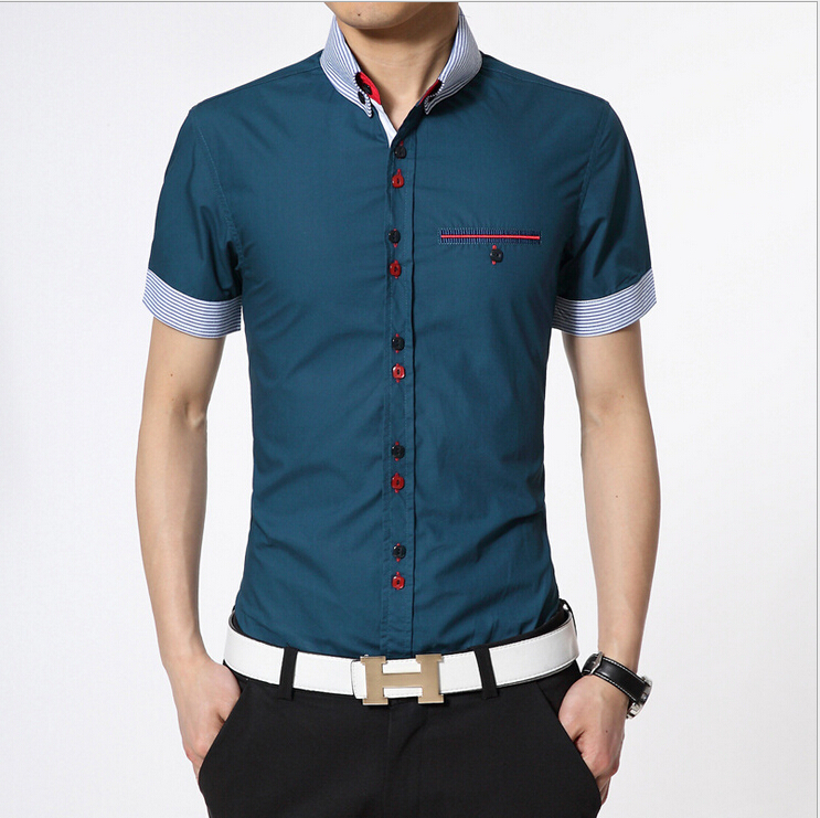 Aliexpress.com : Buy Men Casual Shirts With a Breast Pocket ...