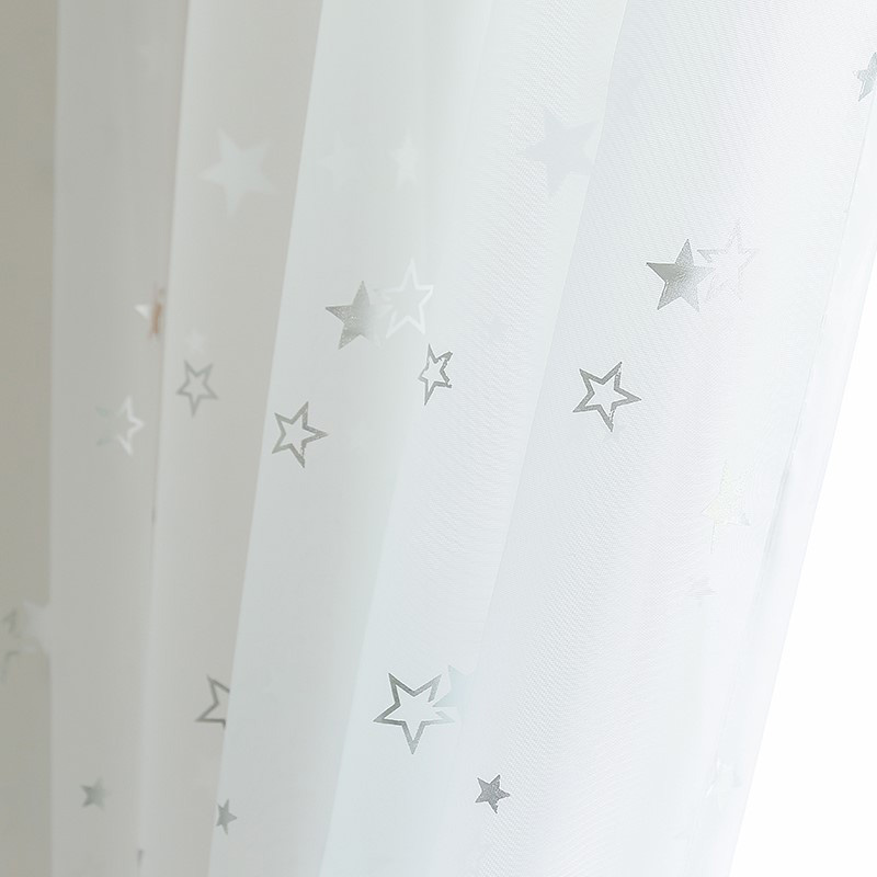Light Shiny Sliver Star White Sheer Tulle Window Curtains For Living Room Bedroom Modern Yarn for Kid Room Drape-in Curtains from Home & Garden on Aliexpress.com | Alibaba Group
