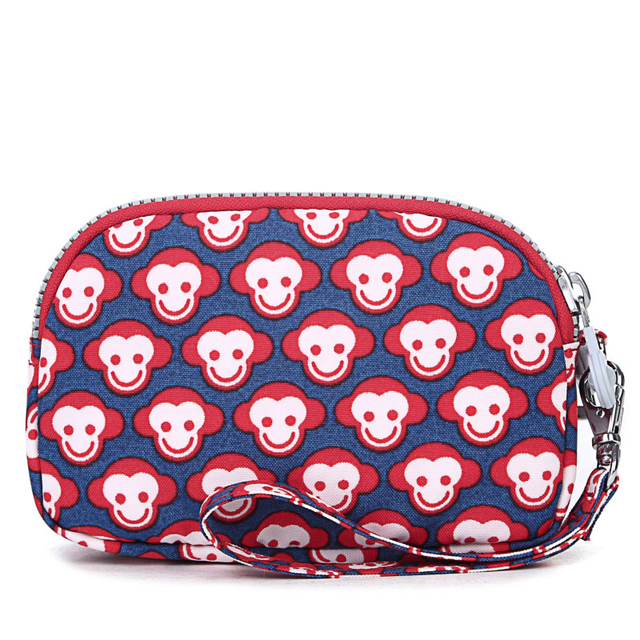 Ms. clutch bag hand bag bag red monkey short paragraph zipper canvas coin purse phone package BB099
