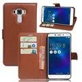 Оригинальный PU Кожаный Бумажник Case для Asus Zenfone 3 Laser ZC551KL Телефон Сумка Обложка с Подставкой Функции и Карты Visa слот