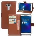 Original pu carteira de couro case para asus zenfone 3 laser ZC551KL Telefone Bag Capa com a Função de Suporte e Cartão Visa Slot