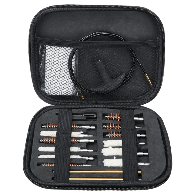 16pcs Universal Gun Cleaning Kit For Rifle Pistol Handgun Shotgun Professional Cleaning Set Gun Brush Tool Hunting Accessories