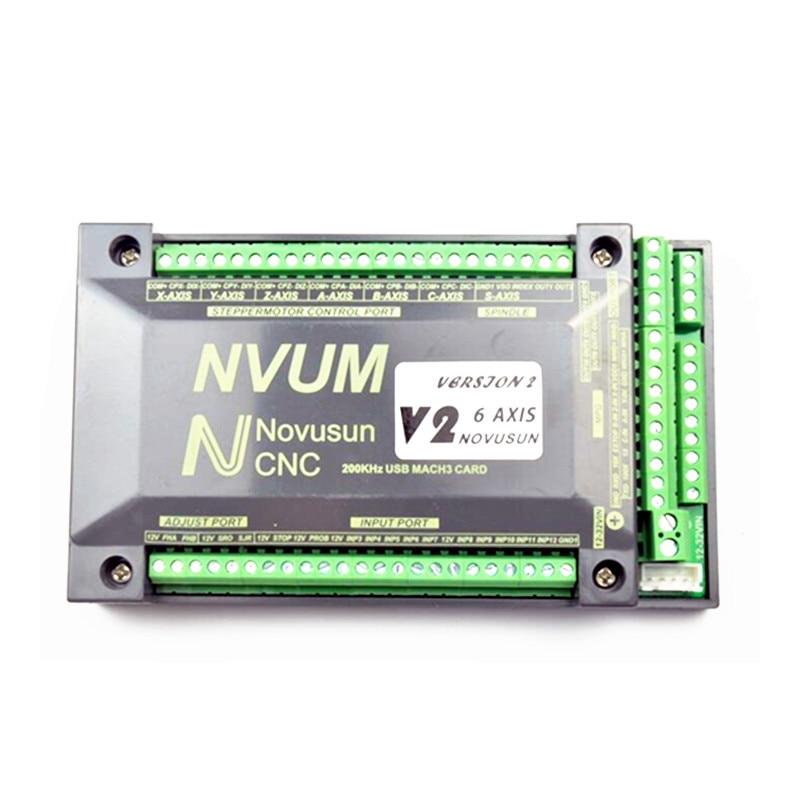 цена на 300KHz NVUM 4 Axis Mach3 USB Card 300KHz CNC router 3 4 6 Axis Motion Control Card Breakout Board for diy engraver machine