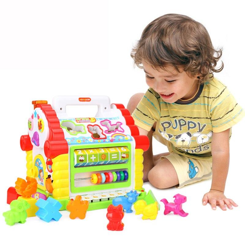 Jouets musicaux multifonctionnels bébé amusement maison Musical blocs géométriques électroniques tri apprentissage jouets éducatifs