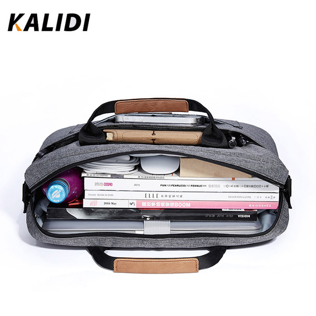 Waterproof Shoulder Bag 13.3 14.4 15.6 17.3 inch Briefcase Business Bag Men Women Messenger Bag Canvas Messenger Bag 2