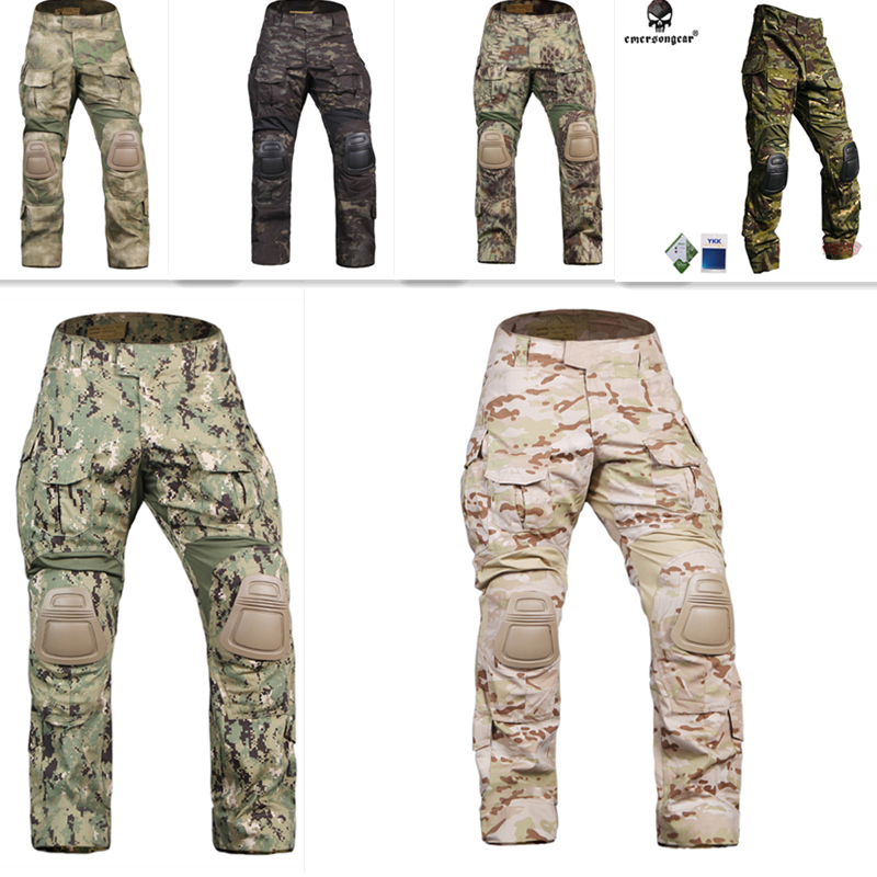 Emersongear G3 Combat Pants With Knee Pads stretch stitching design Water resistant Training Pants Airsoft Tactical