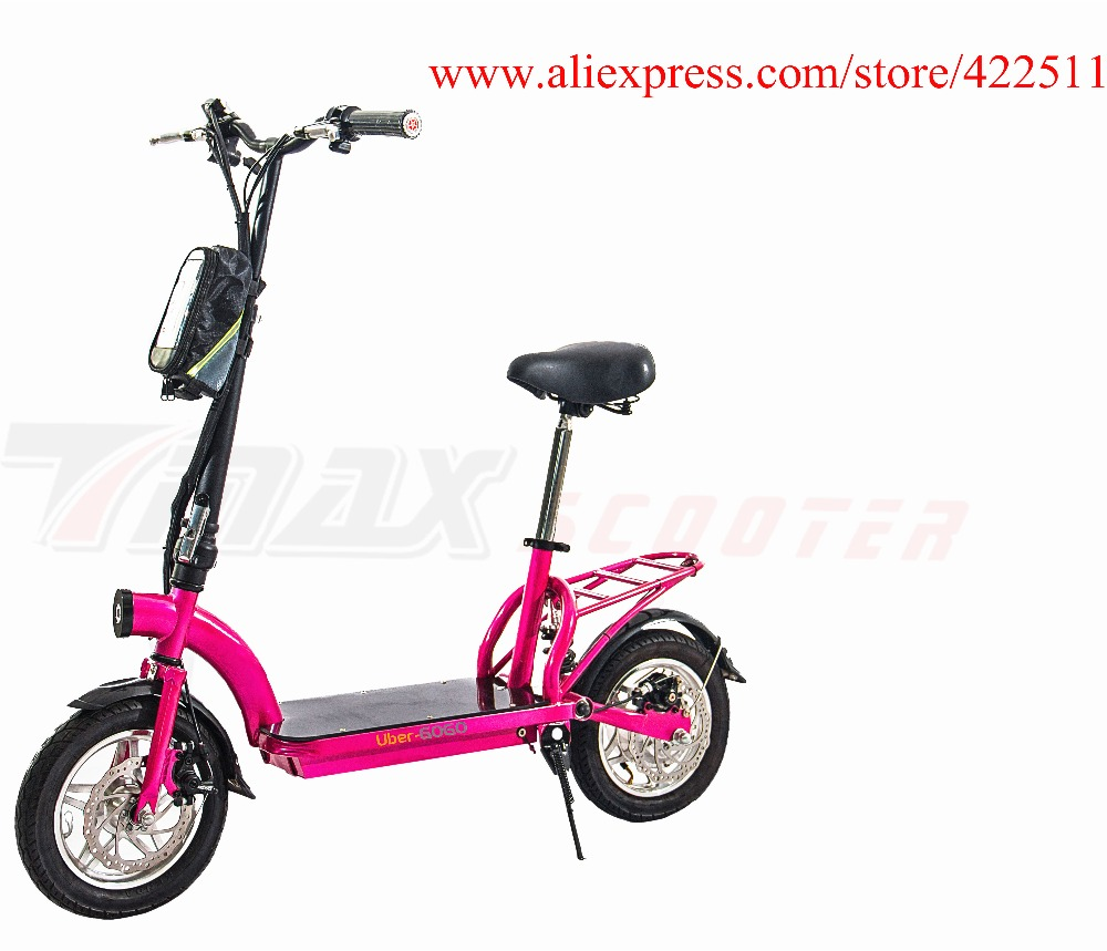 2016  New 300W 36V Hub-motor Electric Scooter/Bicycle 10AH Lithium Battery 2 Wheel Foldable Electric Scooter with Seat economic multifunction 60v 500w three wheel electric scooter handicapped e scooter with powerful motor