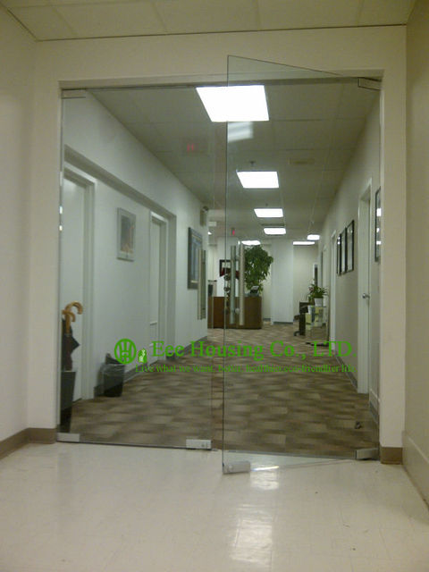 Office Frameless Glass Door For Sale, Frameless Office Entrance Door  System, Modern Glass Door