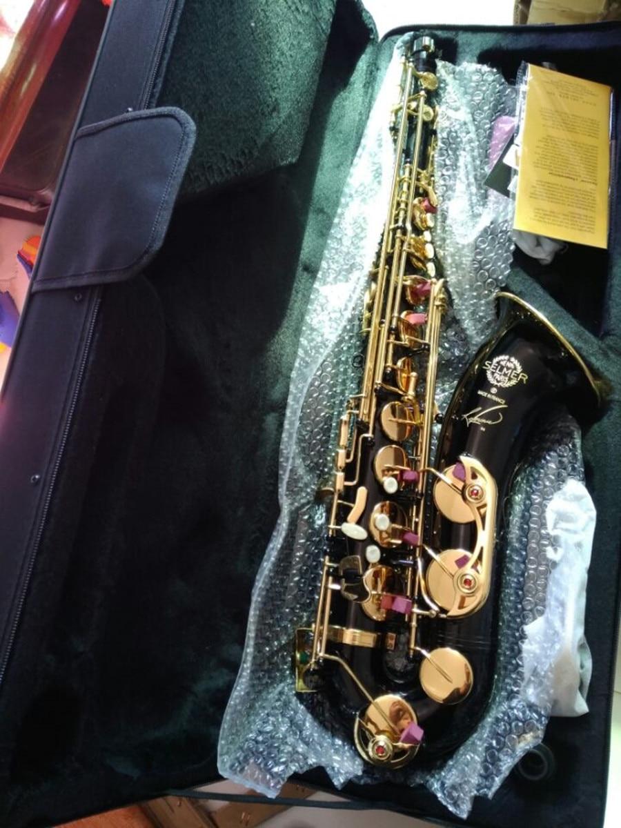 2017 new tenor saxophone Free High-quality  Selmer 54  Black gold sax B flat saxophone music playing professionally france henri selmer bb tenor saxophone instruments reference 36 drop b saxophone surface gold lacquer pink body professional sax