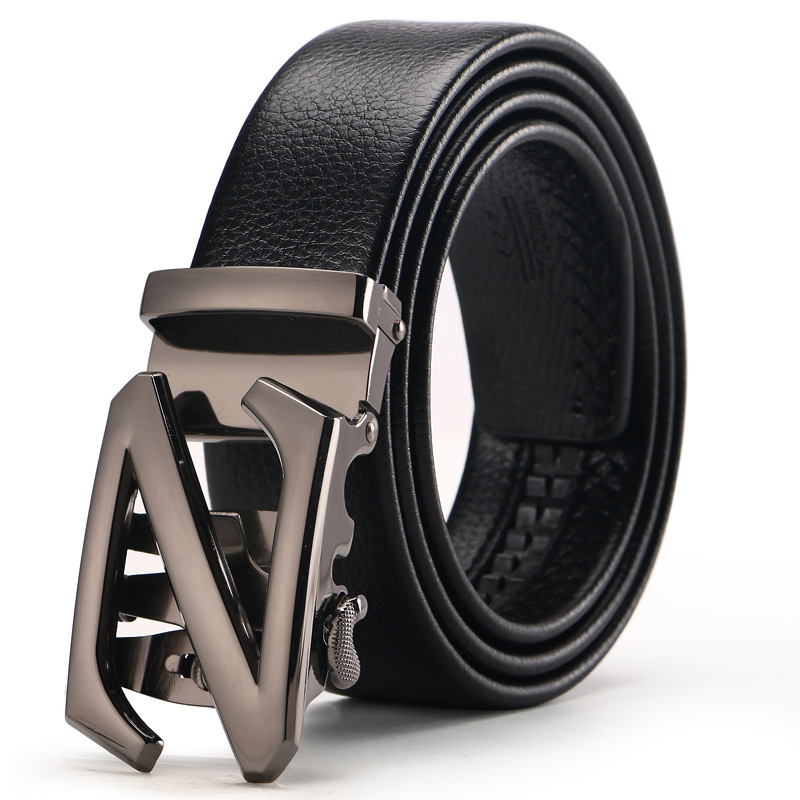 New Brand Good Mens Belt Luxury High Quality Cow Genuine Leather Belts For Men Automatic Buckle Fashion Waist Male Free Shipping