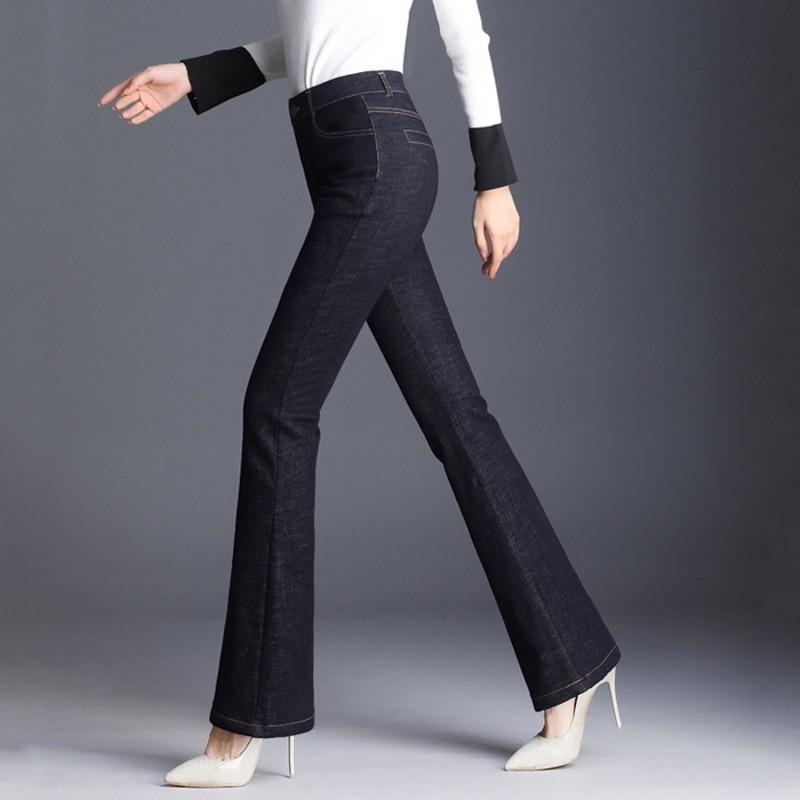 As Mujer Sólido Cintura Invierno Elástico Picture The Fit Tamaño Plus 9xl Moda Pantalones Slim De 2019 M Alta Gruesa Nueva TASTrq