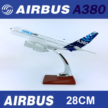 28CM 1:250 Diecast Alloy Metal Airbus 380 A380 Model Prototype Airline w base alloy aircraft plane display toy collection