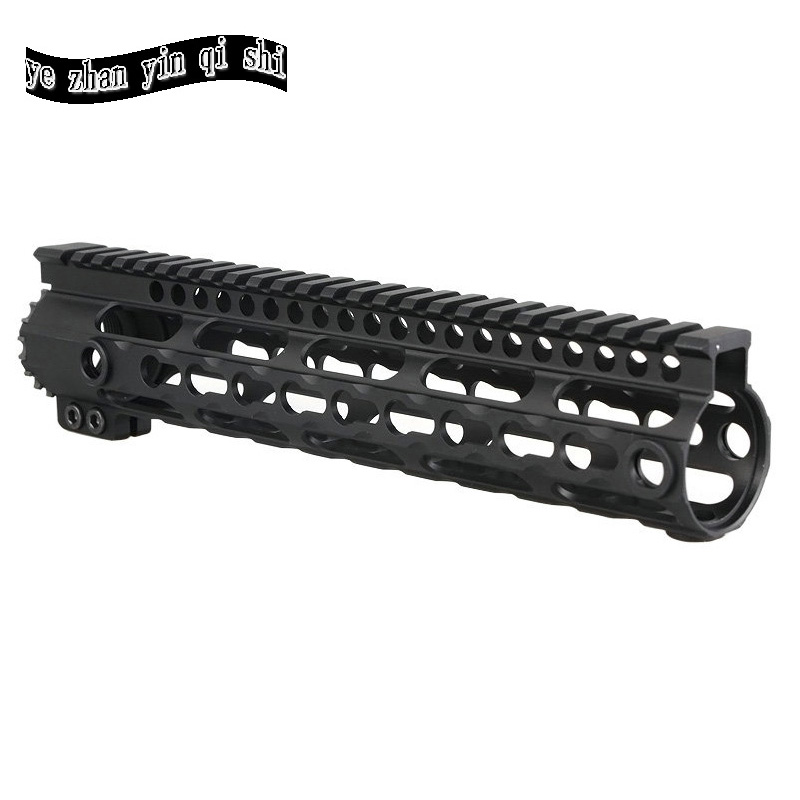 Ultra-lightweight aluminum one rail 10 inch Keymod system float Handguard Picatinny Rail for AEG M4 M16 AR15 12 durable mil spec style matte finish lightweight aluminium handguard picatinny quad hunting shooting rail for aeg m4 m16 ar15