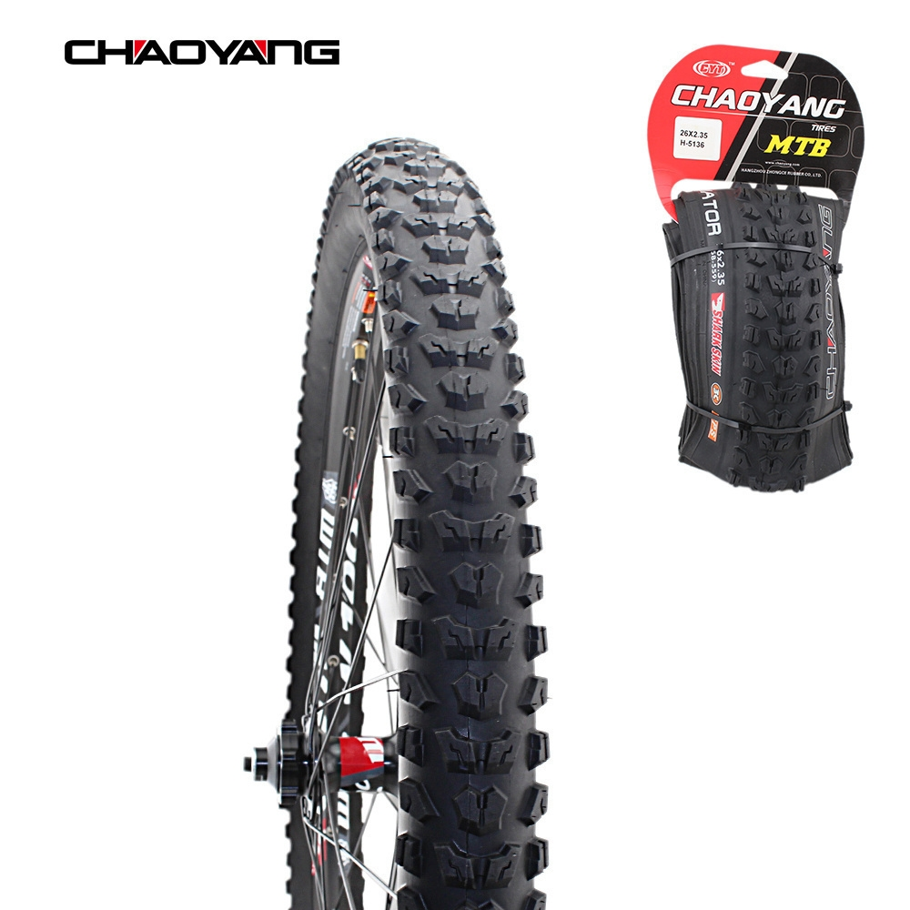 CHAOYANG H-5136 Gladiators Foldable Folding Mountain Bike MTB Tyre Bicycle Collapsible Tire 26*2.35 Cycling Bicycle TyresCHAOYANG H-5136 Gladiators Foldable Folding Mountain Bike MTB Tyre Bicycle Collapsible Tire 26*2.35 Cycling Bicycle Tyres