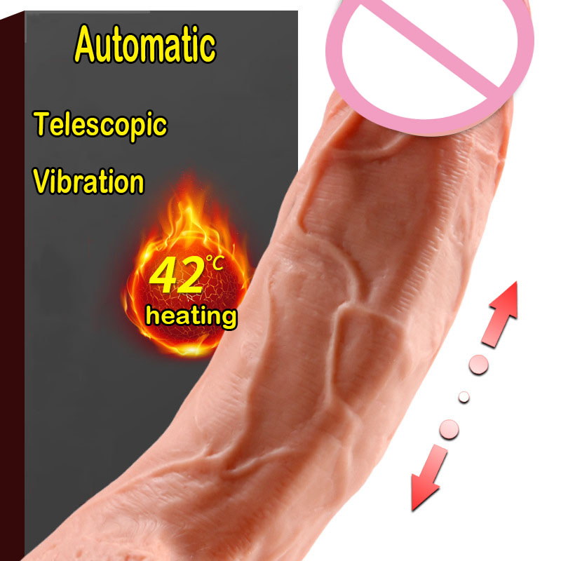 Automatic Telescopic <font><b>Dildo</b></font> Realistic Heating <font><b>Dildo</b></font> Vibrator Suction Cup Cock <font><b>Dildo</b></font> <font><b>Sex</b></font> <font><b>Machine</b></font> Fake Penis <font><b>Sex</b></font> Toys For Women image