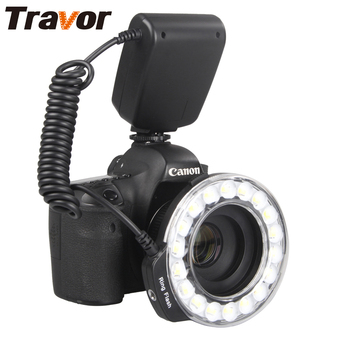 Travor 18pcs Macro LED Ring Flash Light RF-600D For Canon Nikon Panasonic Pentax Olympus DSLR Camera