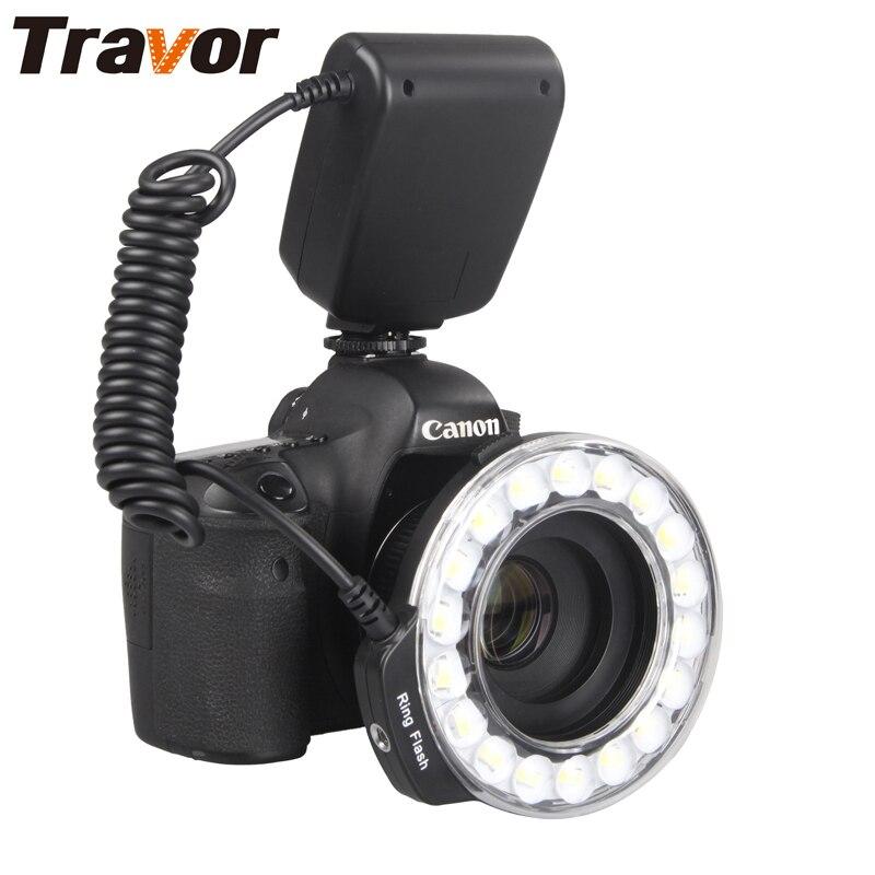 Travor 18 шт. макро светодиодный кольцо вспышка RF-600D для Canon Nikon Panasonic Pentax Olympus DSLR Камера