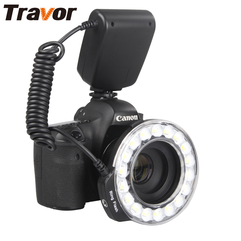Travor 18pcs Macro LED Flash Light Ring RF-600D per Canon Nikon Panasonic Pentax Olympus DSLR Camera