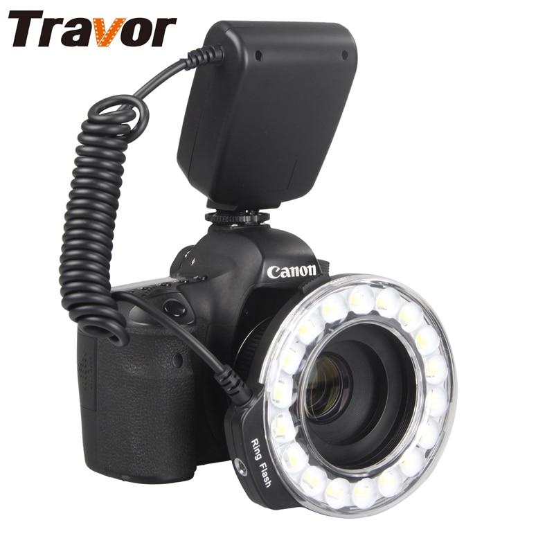 Travor RF-600D 18 pcs Macro Anel LED Flash Light Para Canon Nikon Pentax Olympus Panasonic DSLR Camera