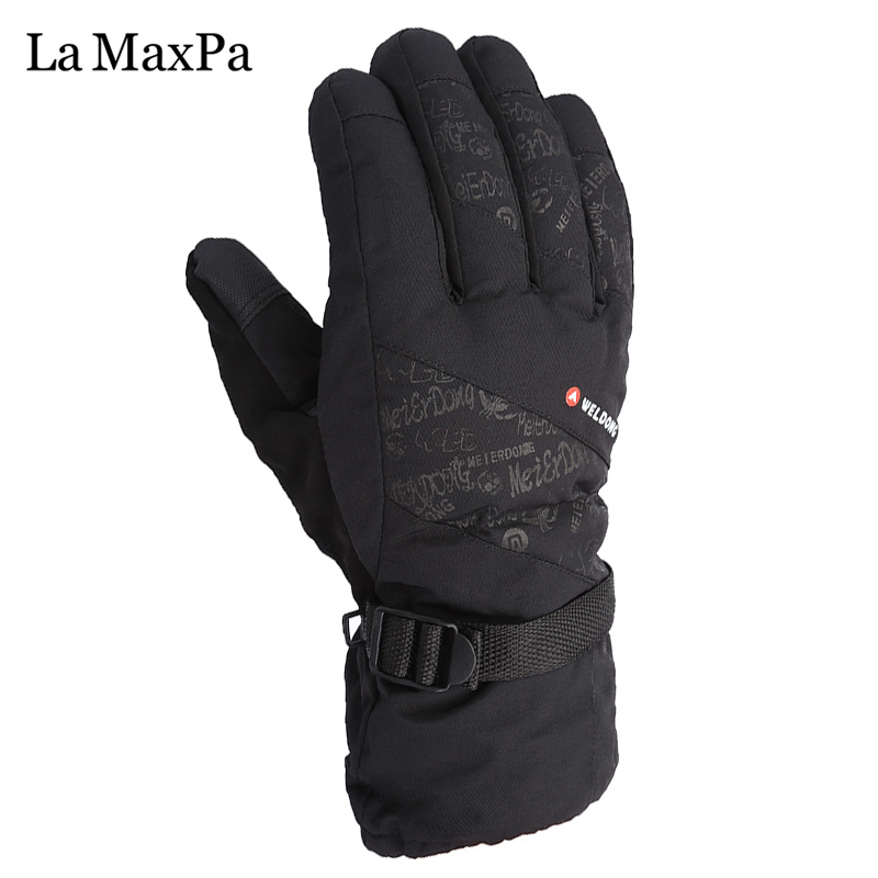 LaMaxPa Winter Gloves Warm Windproof Gloves Comfortable Men