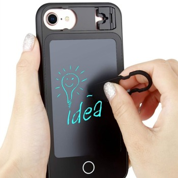 With Writing Board Wordpad Case For iPhone 7 8 X 6 6S Plus Handwriting Panel Folding Kickstand Holder Hard Cover For iPhone X iPhone