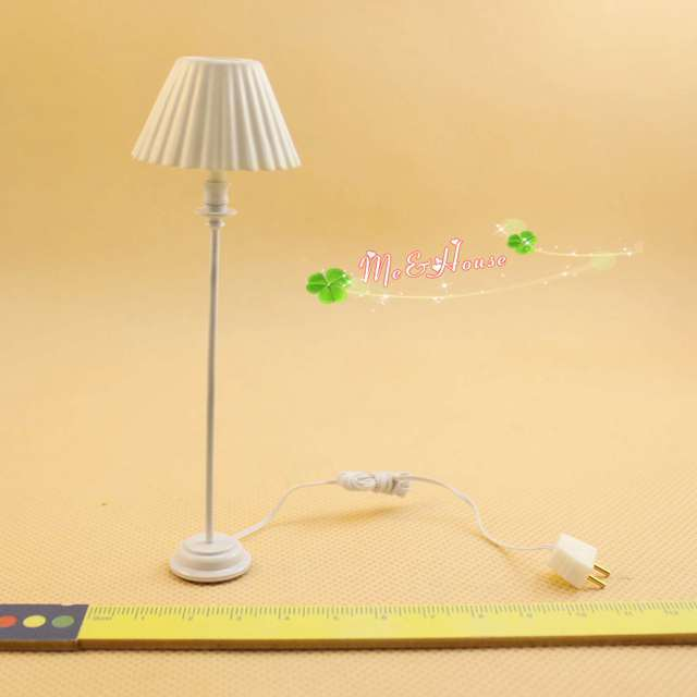 Dollhouse Miniature LED Floor Lamp Light Model Operated Kids Toys