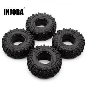 "Image 1 - 4PCS 1.9"" Rubber Tyre / Wheel Tires for 1:10 RC Rock Crawler Axial SCX10 90046 AXI03007 Tamiya CC01 D90 D110"