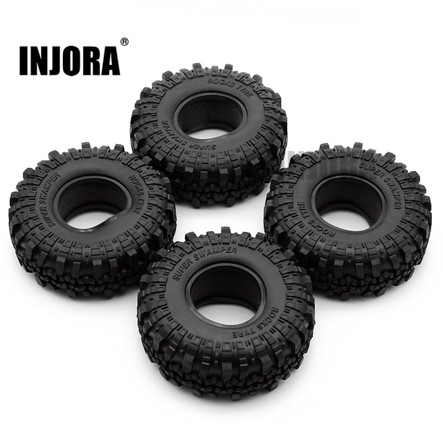 "4PCS 1.9"" Rubber Tyre / Wheel Tires for 1:10 RC Rock Crawler Axial SCX10 90046 AXI03007 Tamiya CC01 D90 D110"