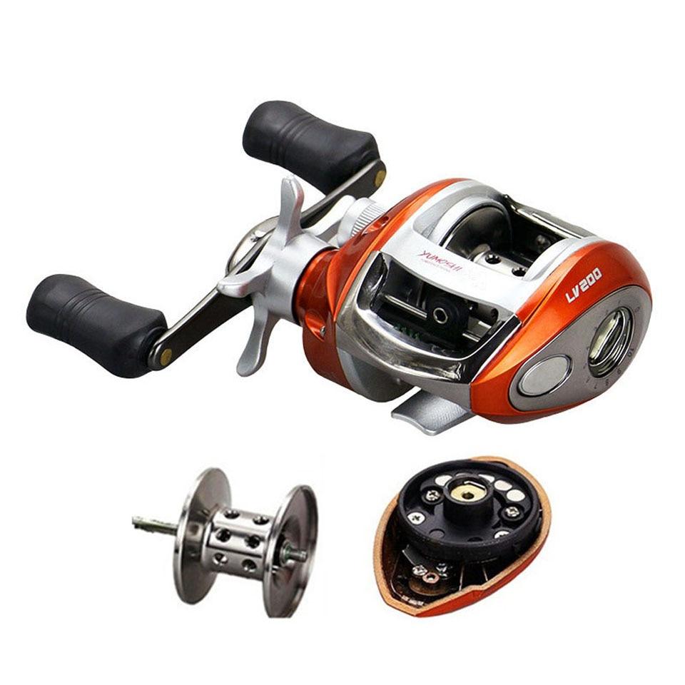 Right or Left hand Baitcasting Reel 12+1BB 6.3:1 Bait Casting Fishing Reel Magnetic brake Water Drop Wheel Coil
