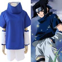 цена 8PCS/Set Athemis Naruto Uchiha Sasuke Cosplay Costume Anime Cosplay Adult Costume Suit Top+Short Stitched High Quality Spot в интернет-магазинах