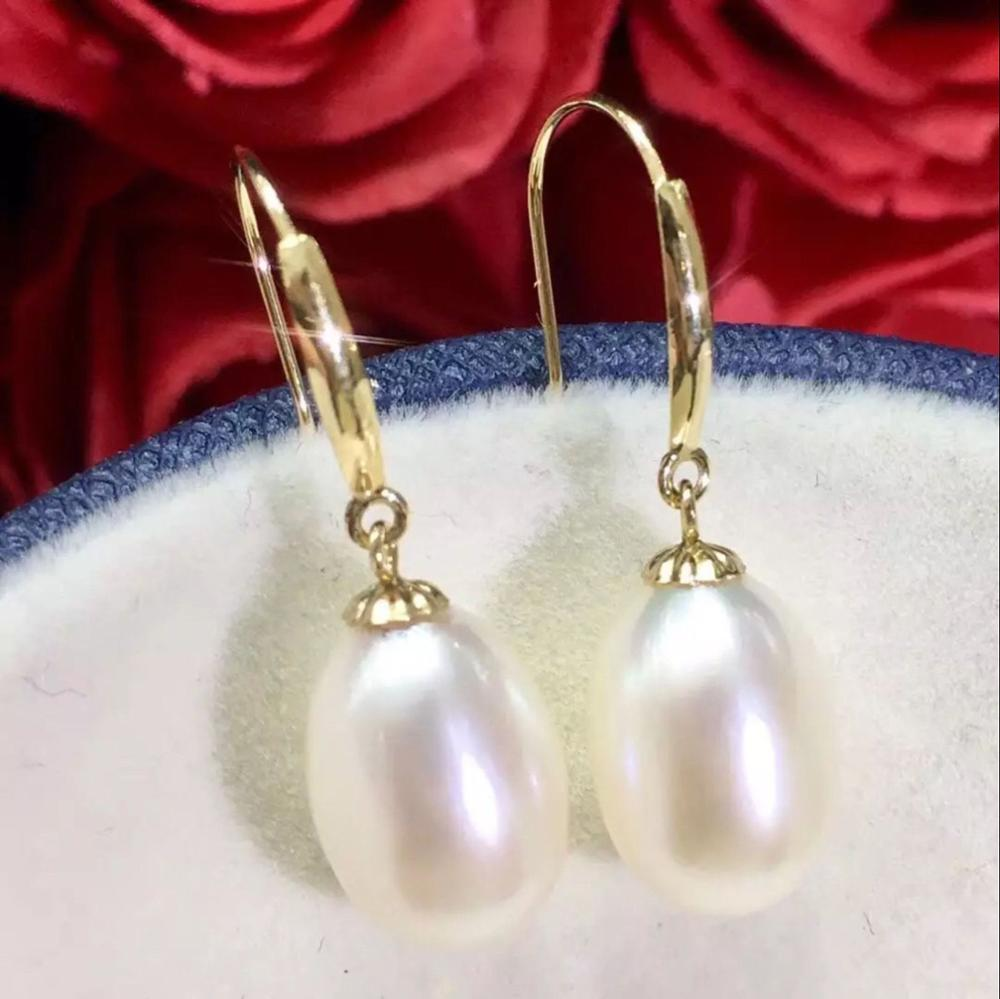 gorgeous pair of 11-12mm baroque south sea white earring 14K gorgeous pair of 16 18mm south sea baroque lavender pearl stud earring 14k