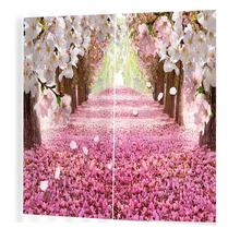 Cherry Brick Road Pattern Curtains Divider Nice Window Curtain 170*200 Romantic Curtains For Living Room(China)