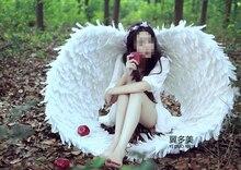 Большой моделирования белый ангел крылья полиэтилена и меха шоу крылья модели около 130 см