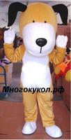 Vivid Gray Sea Lion Dog Fur Mascot Costume With Bright Big Eyes Short Brown Holiday special clothing for Halloween party event
