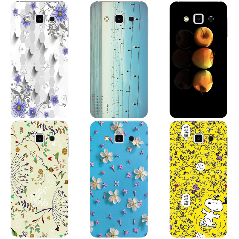 Luxury Flower Phone Case For <font><b>Samsung</b></font> Galaxy A8 A800 <font><b>A8000</b></font> Rose Fashion Rabbit Cartoon Back Cover Soft Silicon TPU image