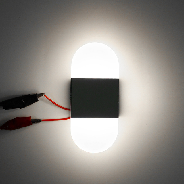 S/M/L Modern LED Round/Square Wall Light Simple  2