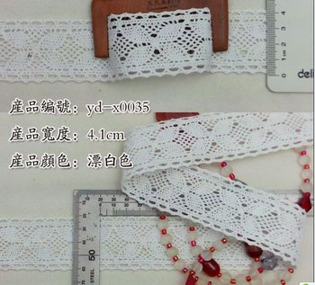 Wholesale free shipping 4.1 cm Christmas DIY crafts,DIY items/lace,DIY clothing accessories,quality cotton lace,4.1cm lace trim