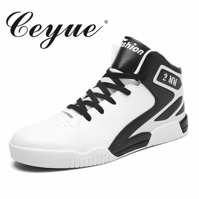 Ceyue Plus Size 45 Basketball Shoes Men Breathable High Top Sneakers Outdoor Sports Shoes Men Brand Athletic Training Shoes Male