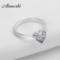 Victoria Wieck Engagement 1 5 Carat Heart Shaped White SONA Diamond 925 Sterling Silver 18K White