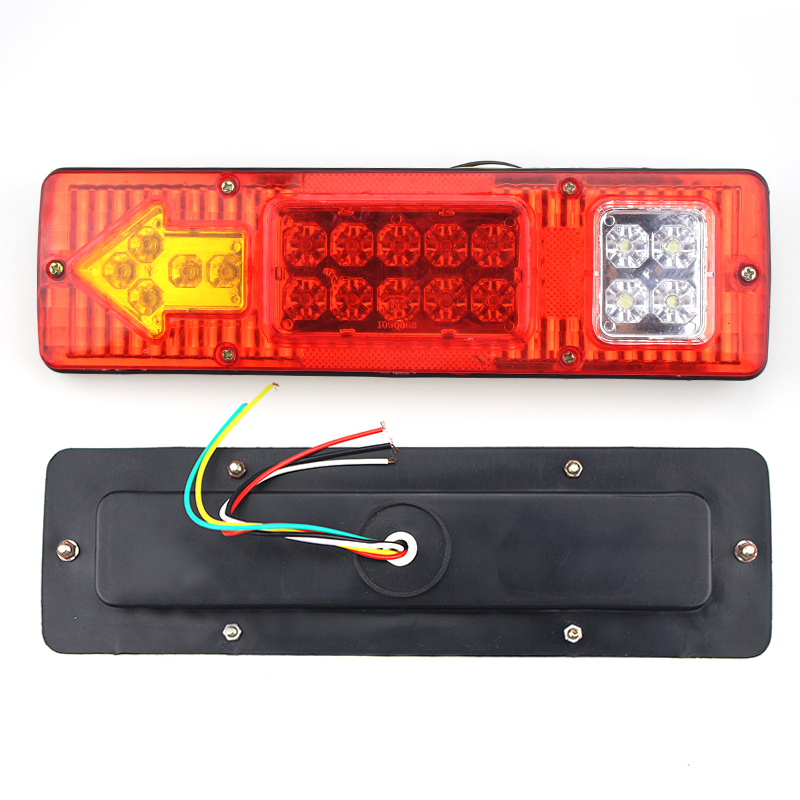 19 LED 2PCs Truck Trailer Lorry Caravan Waterproof Rectangle Stop Rear Tail Indicator Light Lamp 12V Replacement