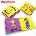 Idioma russo toys educação livro de pano do bebê da alta qualidade família & frutas criança anti-lágrima livro brinquedos para recém-nascidos