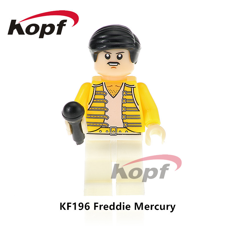Single Sale Super Heroes Freddie Mercury Lead Singer Queen Michael Jackson Popeye Building Blocks Children Gift Toys Model KF196