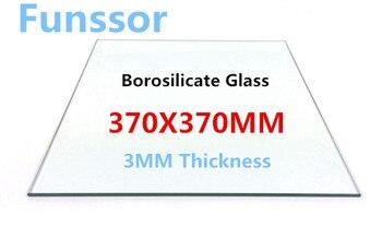 borosilicate glass heating bed 370*370*3mm printing glass plate