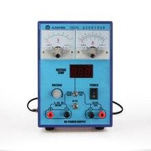 Портативный 220 V DC Питание 15 V 2A регулируемый ток короткого замыкания зуммер быстрое для телефона ремонт ПК